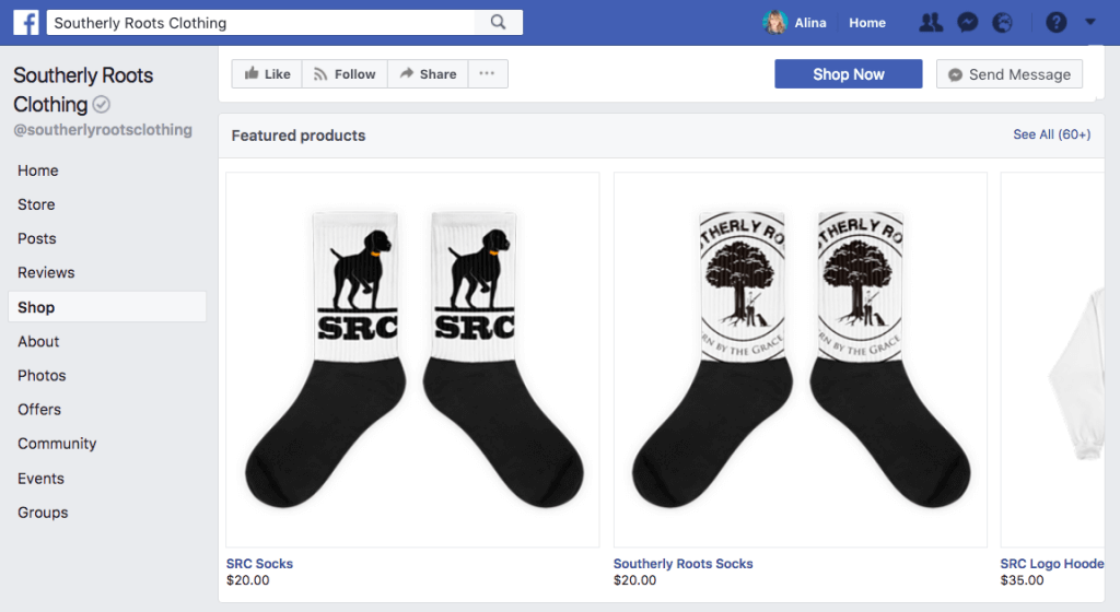 facebook commerce notable examples